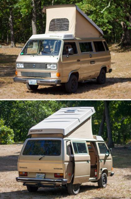 1986 Gold VW Vanagon Westfalia Camper Van / 10k miles ...