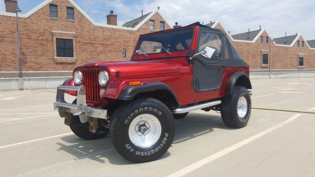 1986 jeep cj7 4x4 v8 engine 3 speed manual transmission. Black Bedroom Furniture Sets. Home Design Ideas