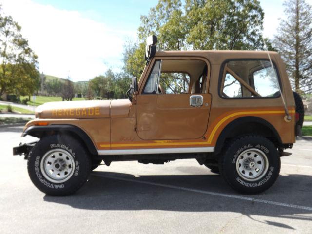 1986 jeep cj7 renegade 4x4 arizona barn find no reserve for sale jeep renegade no reserve. Black Bedroom Furniture Sets. Home Design Ideas