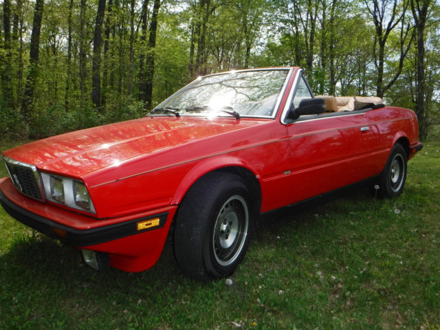 1986 maserati spyder biturbo only 36 k miles red and. Black Bedroom Furniture Sets. Home Design Ideas