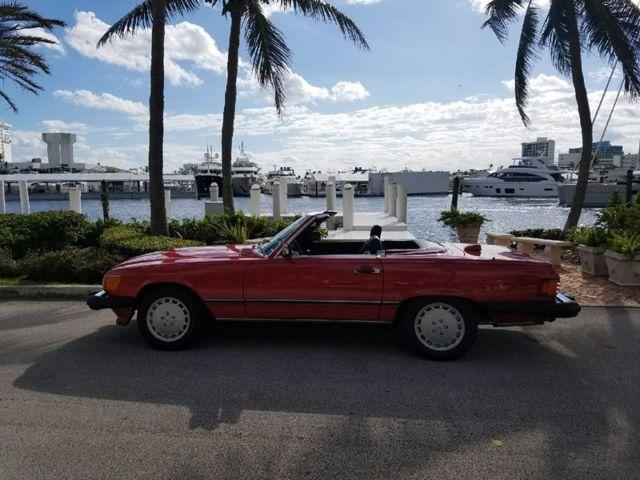 1986 Mercedes 560sl Red Over Black 58k Miles Two Owner