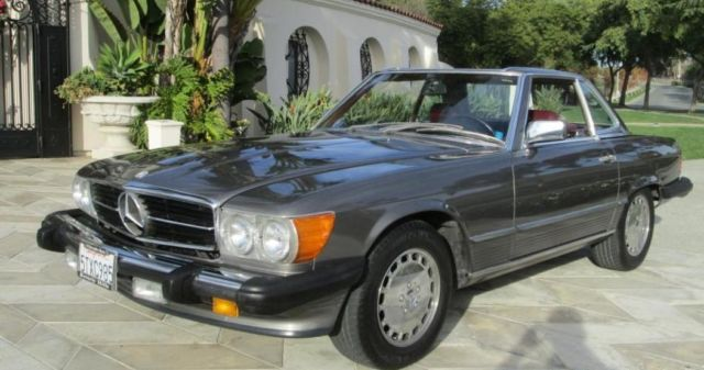 1986 mercedes benz 560sl 2 owner anthracite blue chip for Mercedes benz performance chips