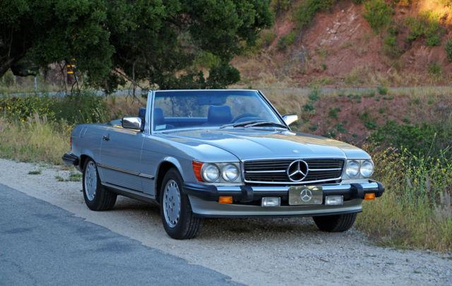 1986 Mercedes Benz 560sl 57k Miles Gorgeous Silver Blue