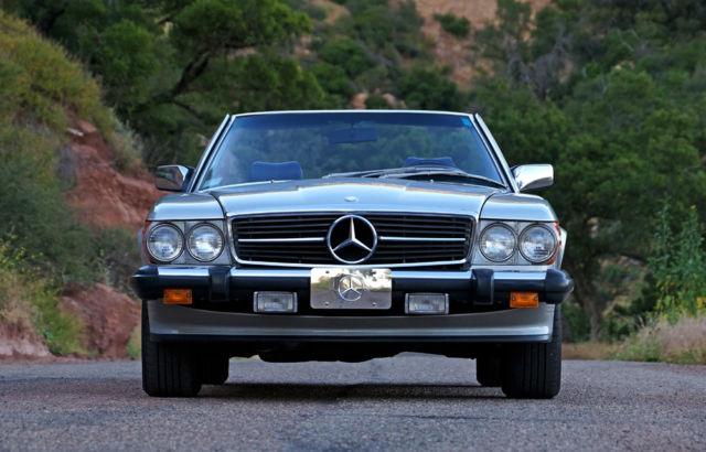 1986 mercedes benz 560sl 57k miles gorgeous silver blue for Santa barbara mercedes benz