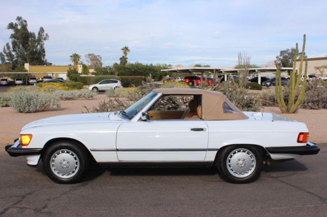 1986 mercedes benz 560sl 59k original miles arctic for Mercedes benz polar white paint