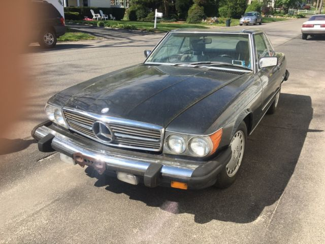 1986 mercedes benz 560sl convertible 2 tops cheap look low for Cheap mercedes benz cars