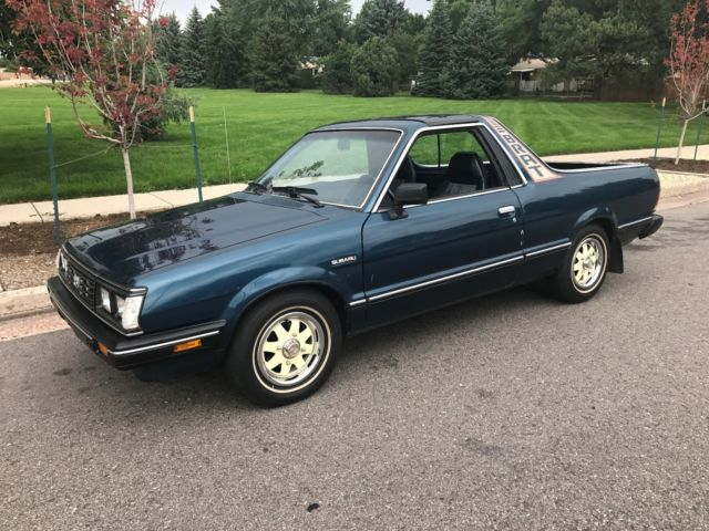 1986 subaru brat ac very nice no rust grandpa owned t top. Black Bedroom Furniture Sets. Home Design Ideas