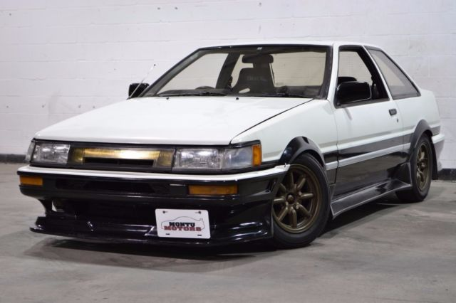 1986 toyota corolla levin ae86 white black 4a geu 5 speed 62 000 miles for sale toyota. Black Bedroom Furniture Sets. Home Design Ideas