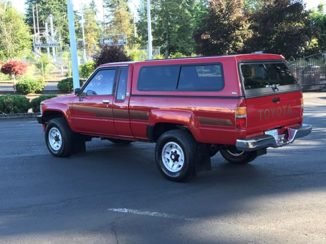 1986 Toyota Pickup 4x4 Sr5 Extra Cab 22re 4 Cyl 50k Miles