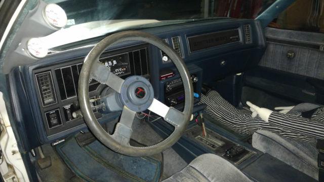 1986 WHITE BUICK T-TYPE TURBO T-TOP SAME DRIVETRAIN AS GRAND