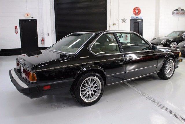 1987 Bmw 6 Series 635csi 248743 Miles Black Straight 6 Cylinder Engine 3 4l 209 For Sale Bmw 6