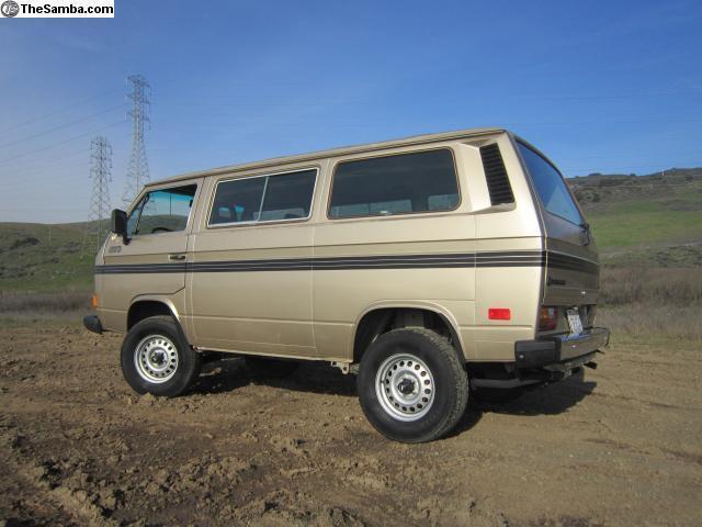 Northern California No Rust: 1987 California Volkswagen Vanagon Syncro CLEAN NO RUST