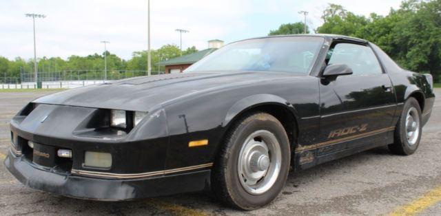 1987 camaro iroc z z28 5 0 tpi black t tops 3rd gen generation classic muscle nr for sale. Black Bedroom Furniture Sets. Home Design Ideas