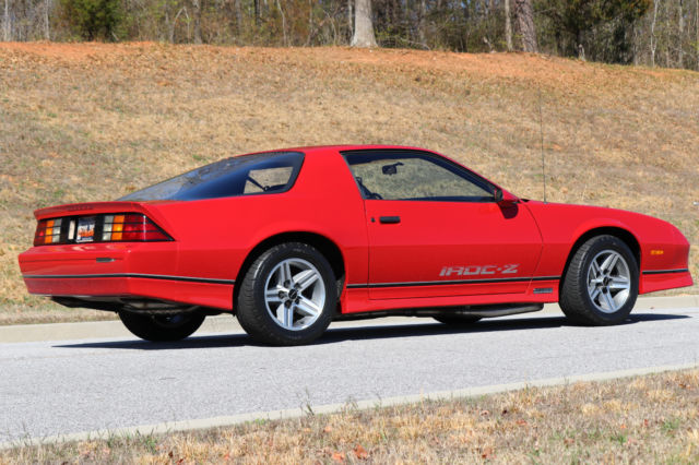 1987 Chevrolet Camaro Iroc Z Hard Top Coupe Red Only 8 000