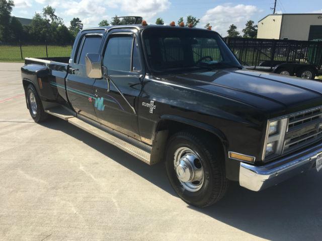 1987 chevrolet r30 silverado crew cab pickup 4 door 7 4l c10 c30 camaro ss k5 ck for sale. Black Bedroom Furniture Sets. Home Design Ideas