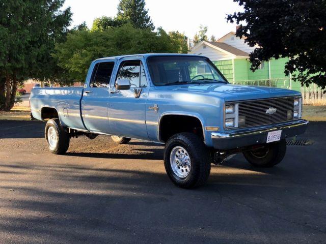 1987 Chevrolet Silverado 3500 4x4 K30 3 3 Crew Cab Long