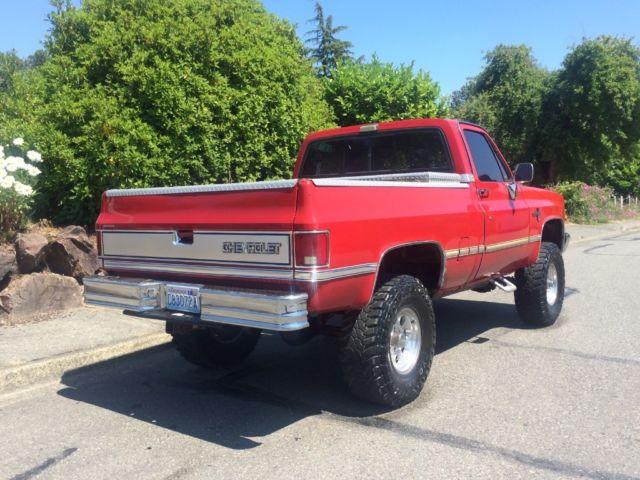 1987 Chevrolet Silverado Short Bed 350 V8 4x4 1 2 Ton 4wd