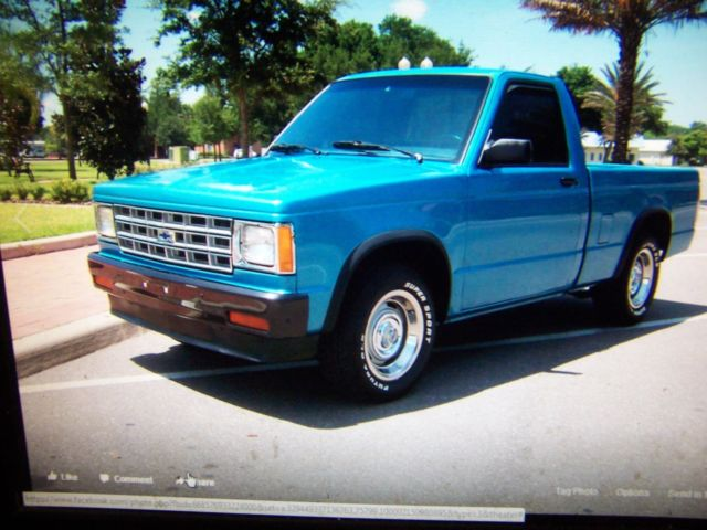 1987 chevy s 10 for sale chevrolet s 10 s10 1987 for sale in winter haven florida united states. Black Bedroom Furniture Sets. Home Design Ideas