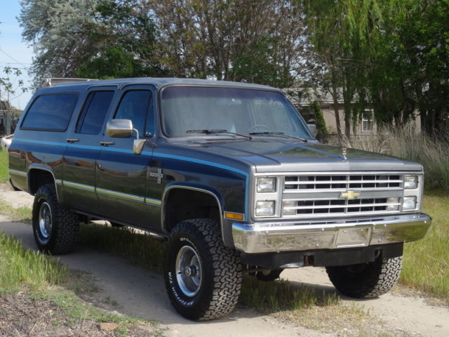 chevy for sale chevrolet suburban k10 1987 for sale in caldwell. Black Bedroom Furniture Sets. Home Design Ideas