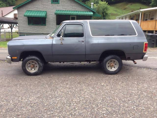 1987 Dodge Ramcharger 4x4 318 Automatic Parts Project Mud Truck Suv Restorable For Sale Dodge