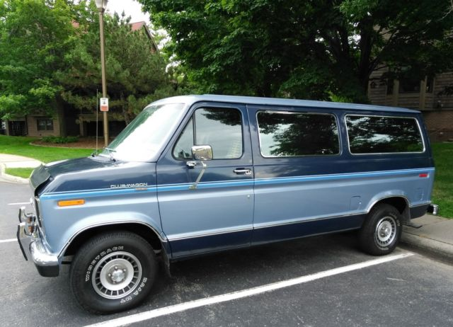 1987 ford club wagon passenger van 1 owner only 46 000 mi rust free look no res for sale ford. Black Bedroom Furniture Sets. Home Design Ideas