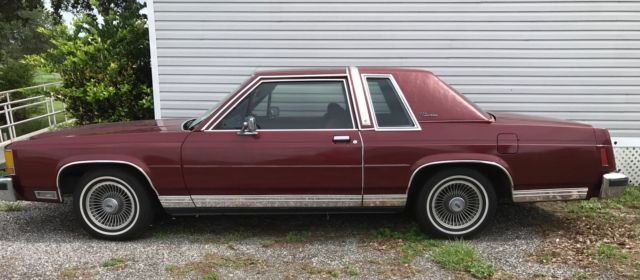 Ford Crown Victoria Lx Coupe  Miles Burgundy In Out