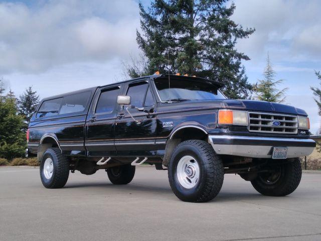 1987 ford f 350 crew cab 4x4 xlt lariat 102k original miles 100 rust free a c for sale ford. Black Bedroom Furniture Sets. Home Design Ideas