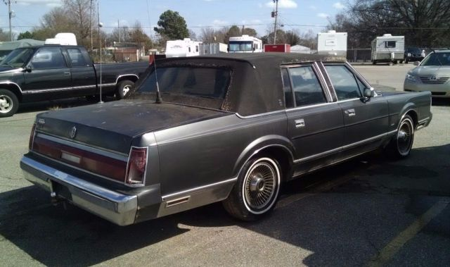 1987 Ford Lincoln Town Car Luxury 4 Door Sedan Signature W V 8 302 Motor For Sale Lincoln