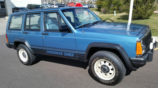 1987 jeep cherokee chief sport utility original 3480 miles garaged show new for sale jeep. Black Bedroom Furniture Sets. Home Design Ideas