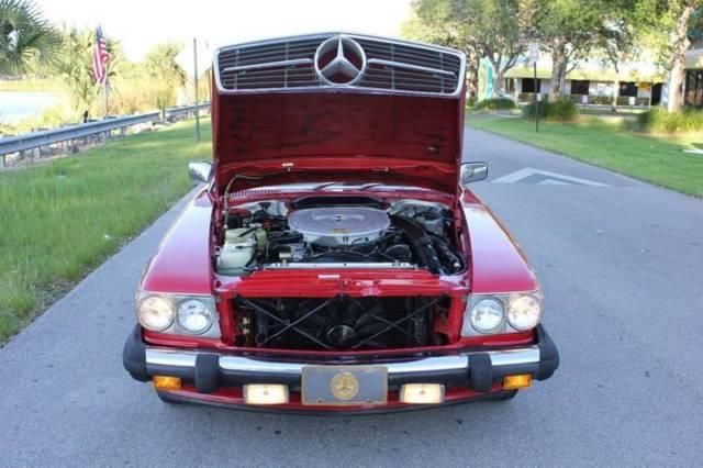 1987 mercedes benz 560 class 560 sl 2dr convertible 109237 for Mercedes benz red convertible