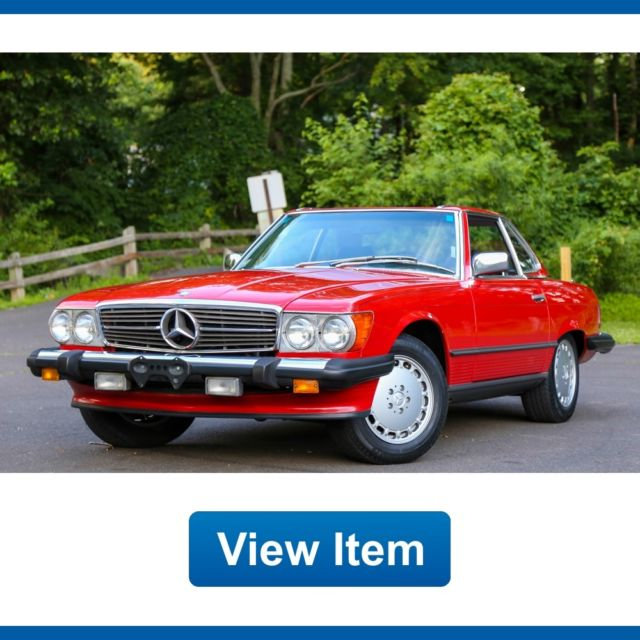 1987 mercedes benz 560sl convertible hard soft top serviced rear seat carfax for sale