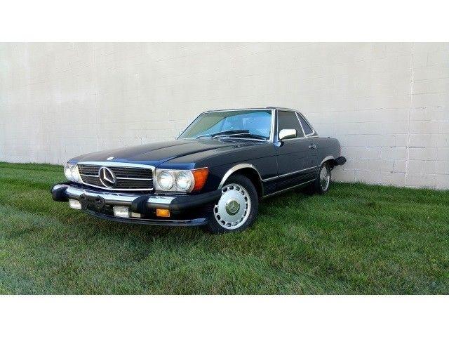 1987 Mercedes Benz Sl Class 560 Class 560sl 83245 Miles Blue V8 5 6l Sohc Autom For Sale