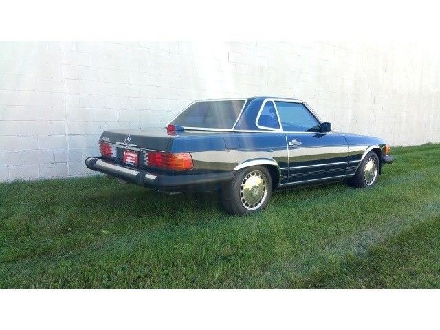 1987 Mercedes Benz Sl Class 560 Class 560sl 83245 Miles Blue V8 5 6l Sohc Autom For Sale