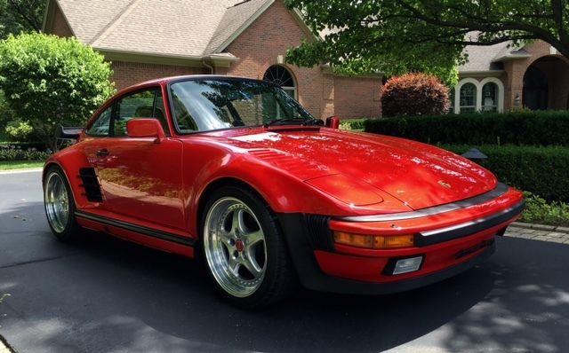 1987 porsche 911 turbo factory slant nose red 37 594 miles for sale porsche 911 1987 for. Black Bedroom Furniture Sets. Home Design Ideas