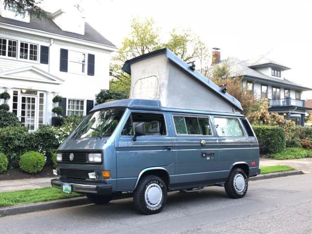 1987 Volkswagen Vanagon Westfalia Pop Top Camper Van Class B Kombi Eurovan Bus For Sale
