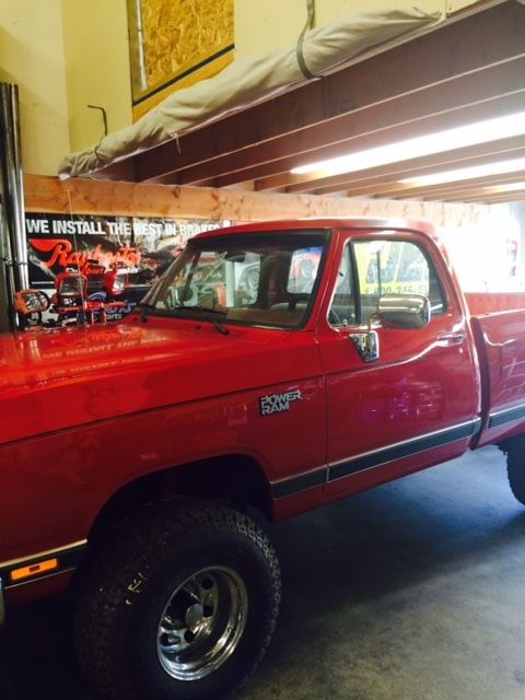 1988 Dodge W100 4X4 Short Bed Truck for sale - Dodge Other ...