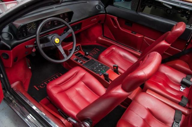 1988 Ferrari Mondial Cabriolet 3 2 Desirable Silver W Red Interior For Sale Ferrari Modial Mondial Cabriolet 1988 For Sale In Saint Louis Missouri United States