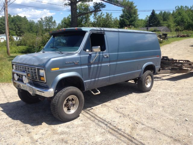 Quigley Van For Sale >> 1988 Ford E-350 4x4 Cargo Van Lifted Locker & 35's Quigley? Pathfinder? for sale - Ford E-Series ...