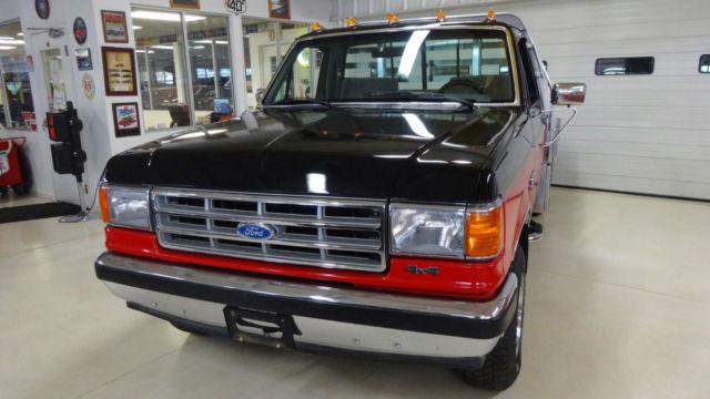 1988 ford f 150 4x4 xlt lariat 163057 miles red black pickup i6 4 9l manual 5 for sale ford. Black Bedroom Furniture Sets. Home Design Ideas