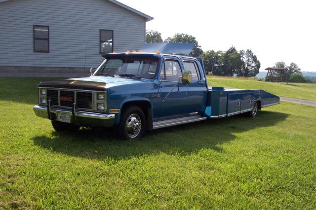 1988 GMC 3500 4 Door Crew Cab Car Hauler Hodges Bed Wedge ...