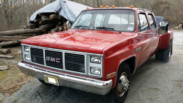 1988 gmc crew cab 4 door dually pick up truck red on red for sale gmc other 1988 for sale in. Black Bedroom Furniture Sets. Home Design Ideas