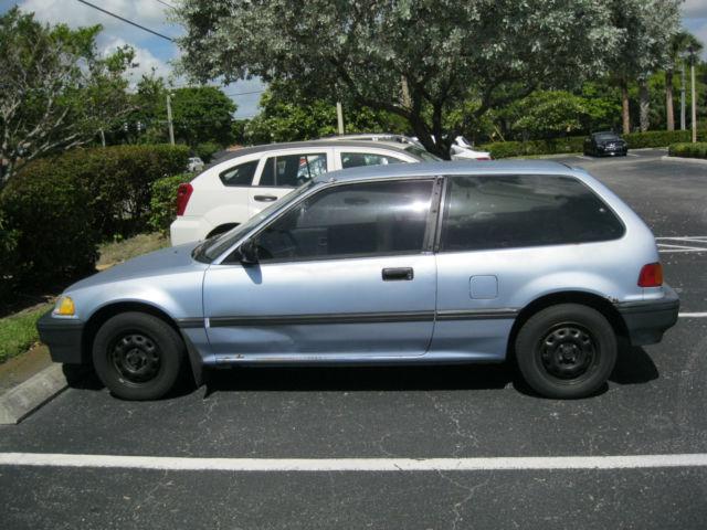 1988 Honda Civic EF Hatchback 1.5 Liter Manual 4-Speed Blue Classic Car Lo Miles for sale ...