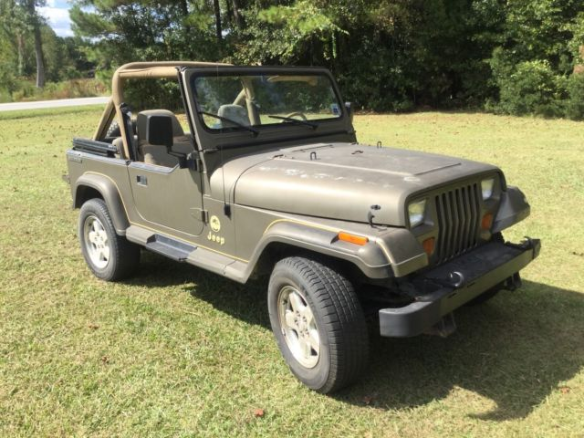 1988 jeep wrangler sahara yj 95k miles southern jeep runs good see video for sale jeep. Black Bedroom Furniture Sets. Home Design Ideas