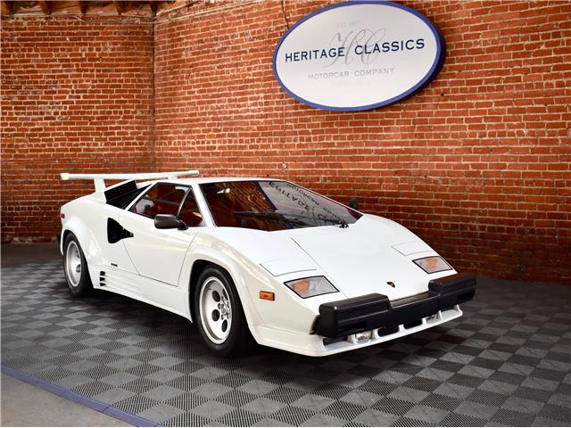 1988 Lamborghini Countach White With 19933 Miles Available Now For