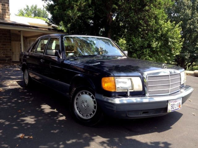 1988 mercedes benz 420 sel blue with tan leather sun for Sun motor cars mercedes benz mechanicsburg pa