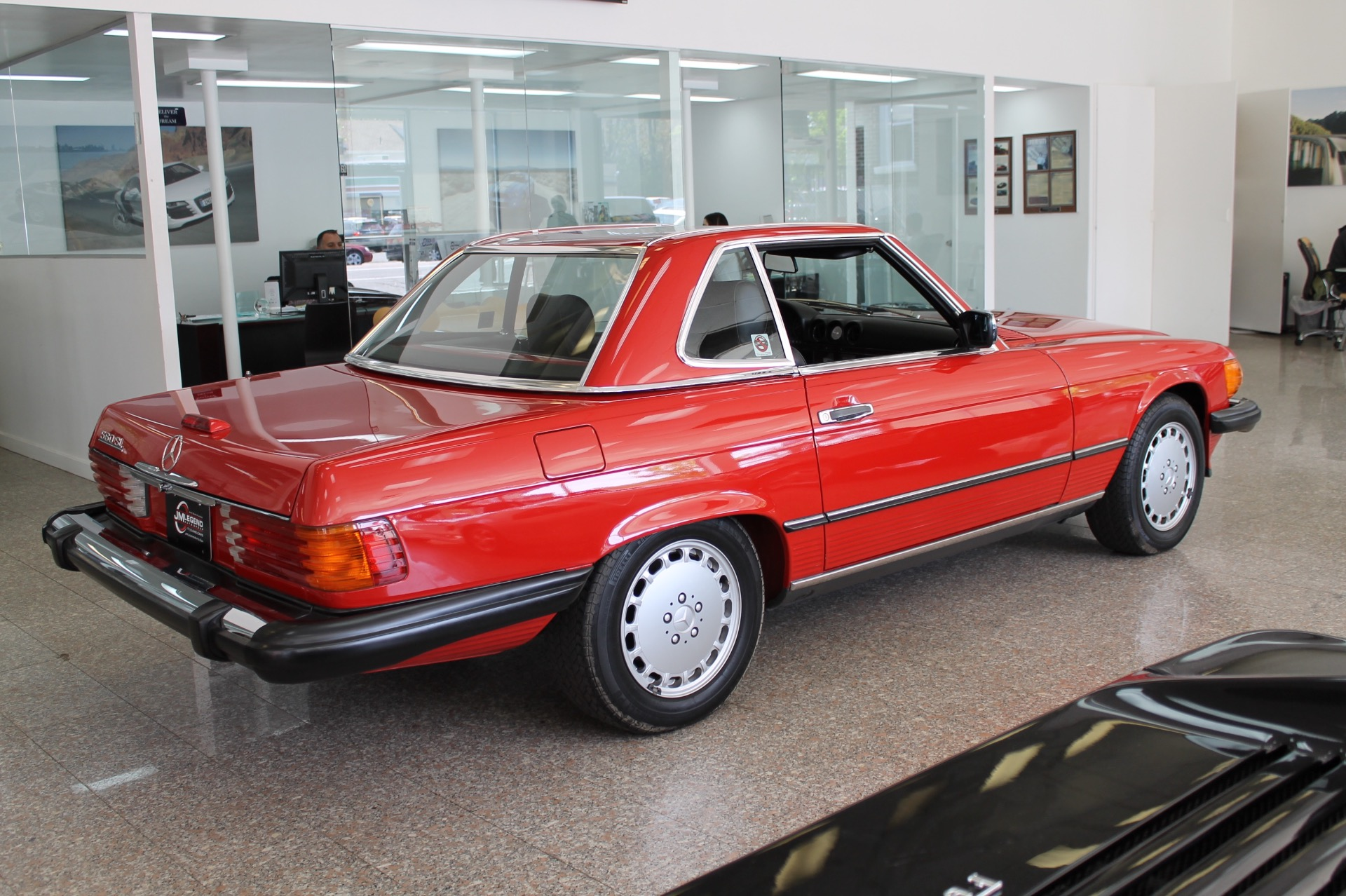 1988 mercedes benz 560sl 560sl 3 280 miles red convertible