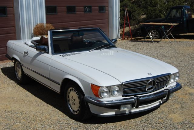 1988 mercedes benz 560sl euro bumpers new top new leather for Mercedes benz for sale ebay