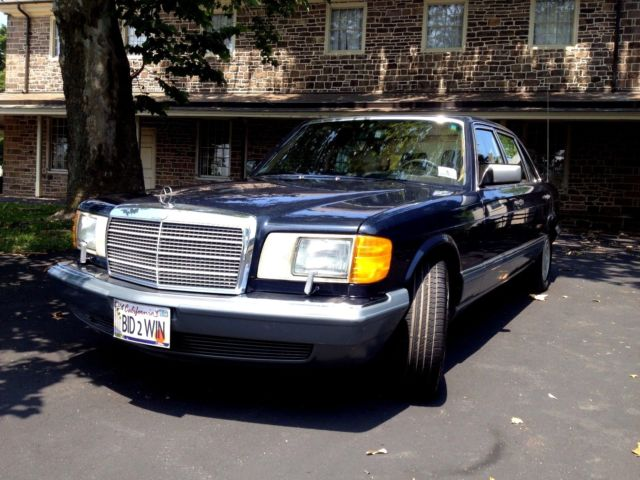 1988 mercedes benz s 420 blue with tan leather sun roof for Sun motor cars mercedes benz mechanicsburg pa