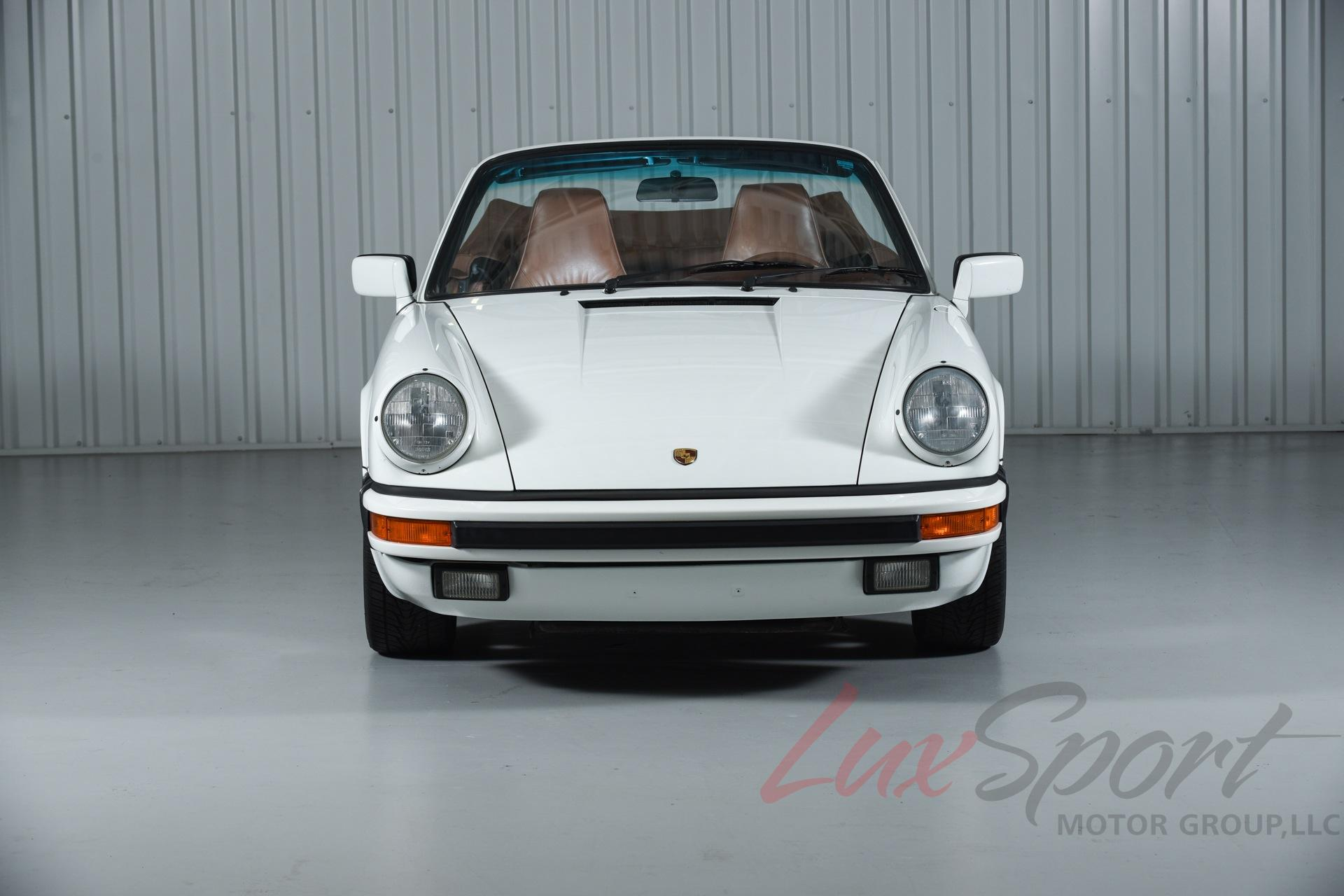 1988 porsche 911 3 2 carrera cabriolet rare grand prix white brown 5 speed mint for sale. Black Bedroom Furniture Sets. Home Design Ideas