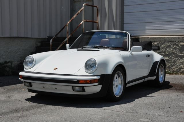 1988 porsche 911 cabriolet widebody g50 grand prix white w mahogany fresh 3 2 for sale. Black Bedroom Furniture Sets. Home Design Ideas